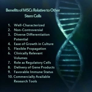 Benefits of MSCs
