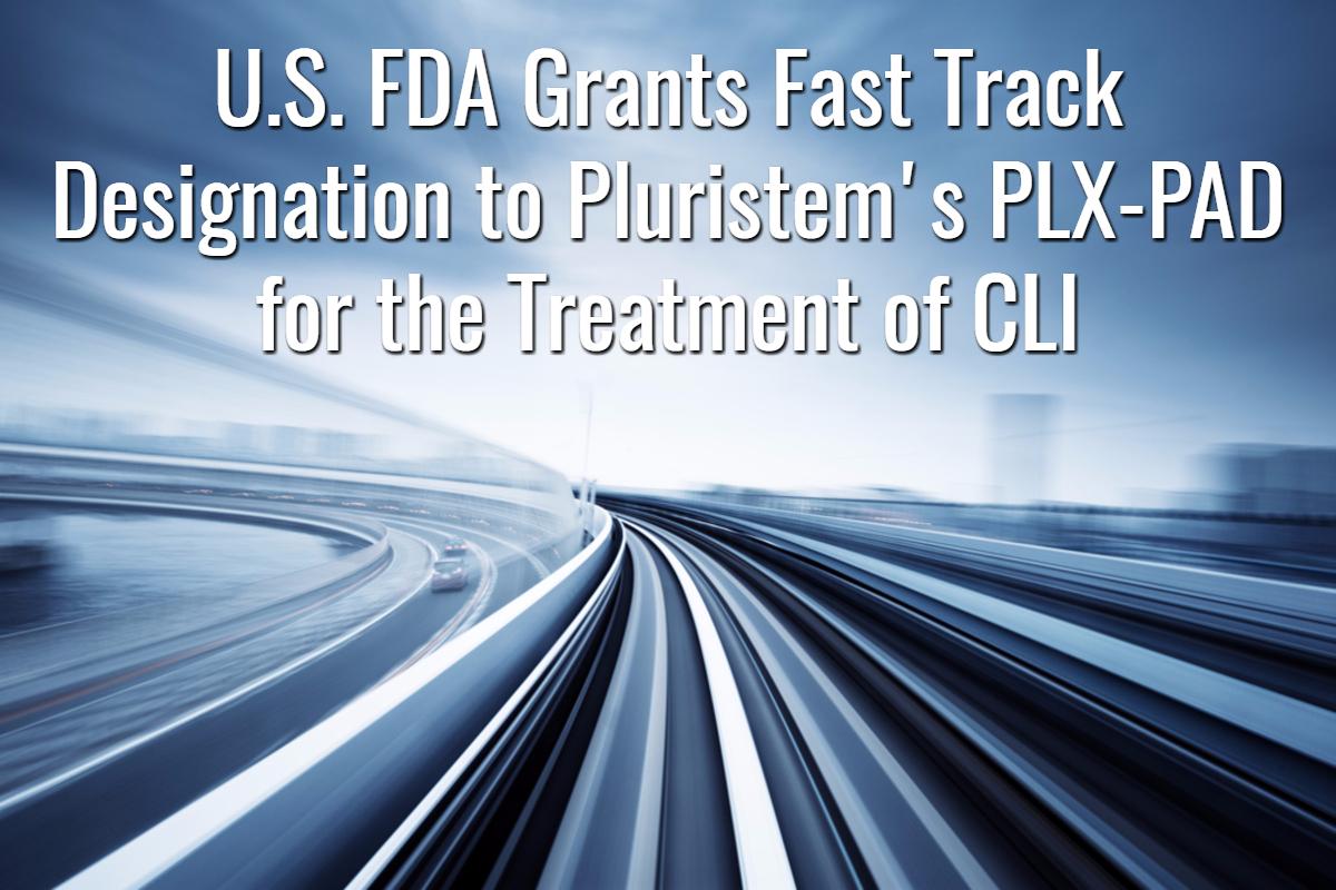 FDA Fast Track for Pluristem's PLX-PAD