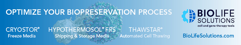 The Gold Standard for T Cell Cryopreservation - CryoStor, cGMP Cell Freeze Media